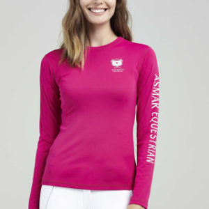 Asmar Long Sleeve Tee-hotpink
